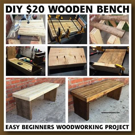 bench projects diy 20 dollar beginner wooden bench project removeandreplace com