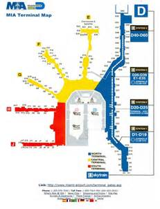 Miami Terminal Map by Miami International Airport Map Related Keywords