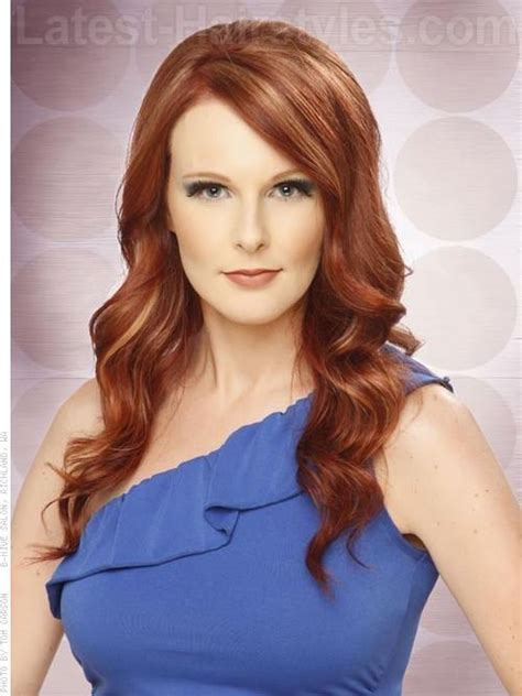 hairstyles red hair round face 11 stunningly slimming long hairstyles for round faces