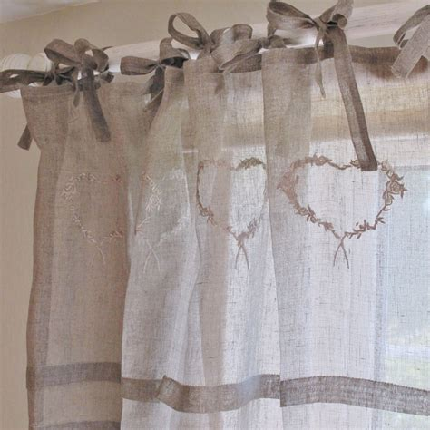 french voile curtain panels heart linen voile curtain x 1 bliss and bloom ltd