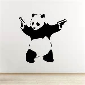 banksy wall stickers banksy panda wall decal iconic grafitti pop