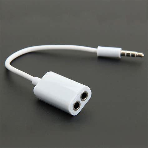 2 In 1 Earphone Headset 3 5 Mm 2in1 3 5 mm dual audio line headset earphone splitter one in two couples adapter for