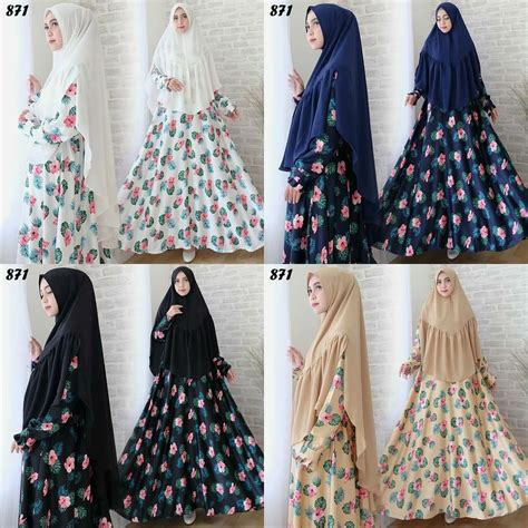 Syari Maxmara syari maxmara motif bunga c871 baju muslim cantik