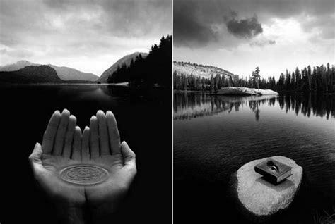 stunning surreal photography  jerry uelsmann design swan