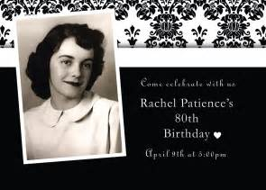 An birthday invitation i did for my grandmother s 80th birthday