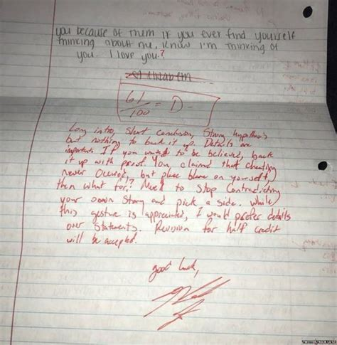 Apology Letter To Ex S Parents Student Grades Ex Girlfriend S Apology Letter Sends It Back Newscut Minnesota Radio News