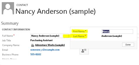 given name vs surname crm 2013 how to include contact s middle name field in