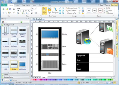 Home Design Software Mac Free by Rack Layout Tool Edraw Network Diagram