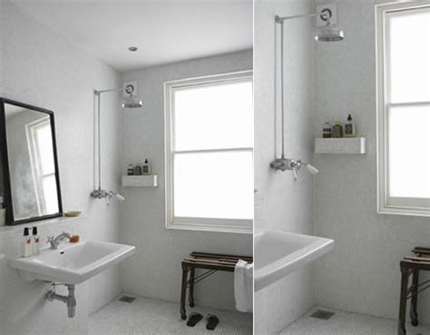 How To Add A Shower To A Small Bathroom Open Shower Architecture Design Better Living Through Design
