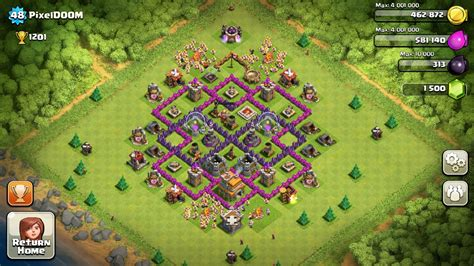clash of clans layout strategy level 7 clash of clans base strategy level 7 google search