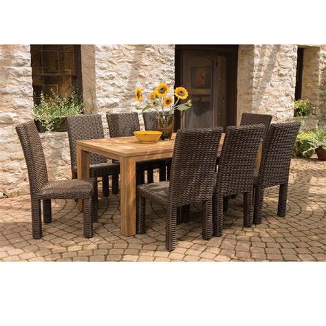 lloyd flanders mesa 9 woven vinyl dining set with