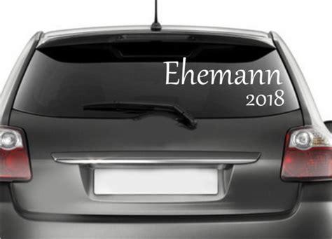 Auto Sticker Hochzeit by Autoaufkleber Hochzeit Ehemann Mit Jahreszahl
