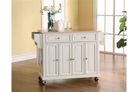 white kitchen island with natural top natural wood top kitchen cart island in white finish by