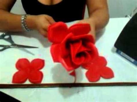 rosas moldes de flores para hacer arreglos florales en fomi goma eva hd rosa de foamy youtube