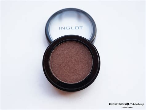 Eyeshadow Review inglot eyeshadow 422 pearl review swatches eyemakeup bows makeup