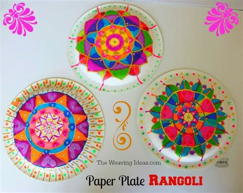 Paper Craft Ideas For Diwali - paper plate rangoli craft idea for diwali craft ideas