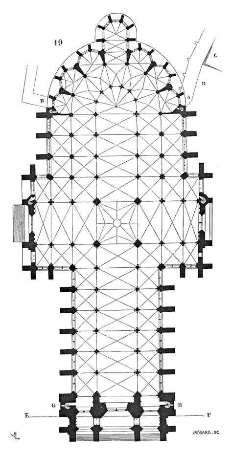 amiens cathedral floor plan file plan cathedrale amiens png wikimedia commons