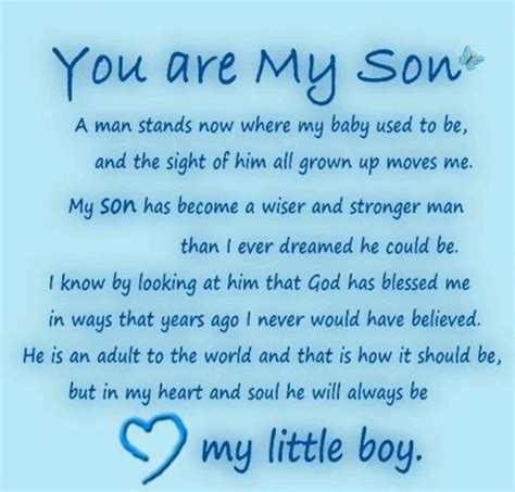 I Love My Son Poems, Mother's or Father's Love for Son Poems