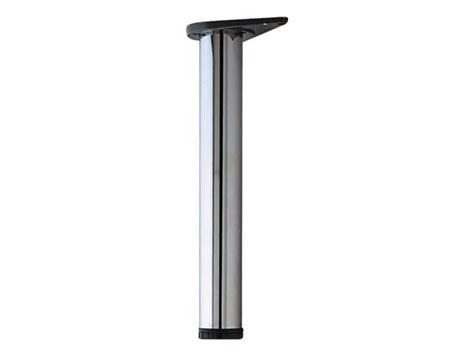 adjustable metal table legs sws adjustable table legs 60mm dia x 710mm l polished