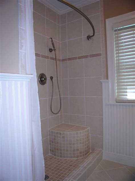 built in shower seat shower with built in seat general home improvement ideas