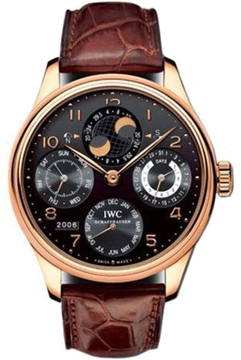 Alba At3382 Rosegold Brown Leather Original iwc iw502122 watches iwc portuguese watches at bodying my