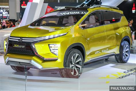 mitsubishi xm concept iims 2017 mitsubishi xm low mpv coming this year