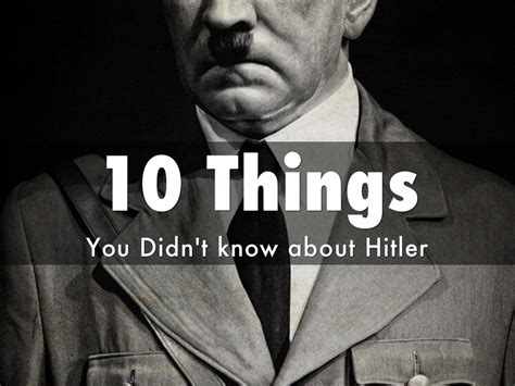 10 secret things you didn 10 things you didn t know about hitler by ronald