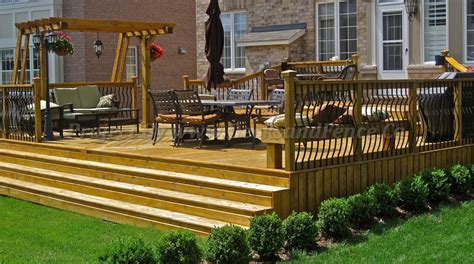 backyard fences and decks toronto decks and fence patio design toronto decks design deck building company