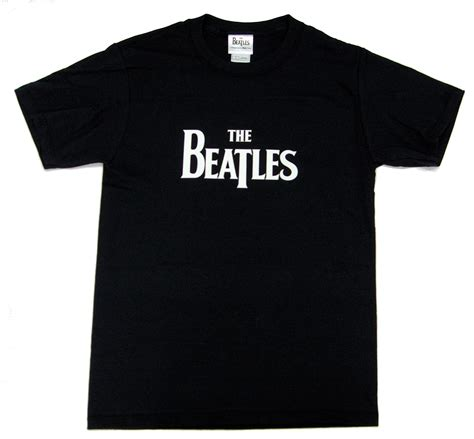 The Beatles Black Logo pin beatles logo mens black t shirt on