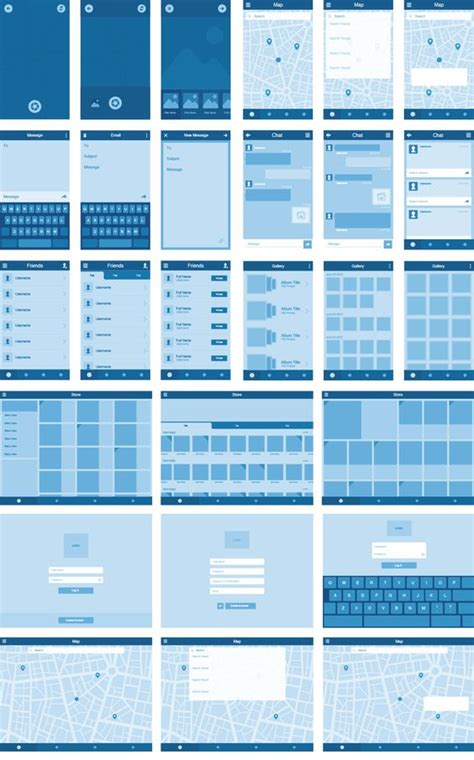 ux design templates wireframe kit 70 templates and 300 ui elements for