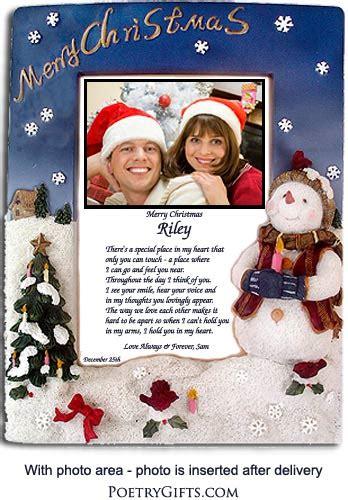christmas love poem  snowman frame