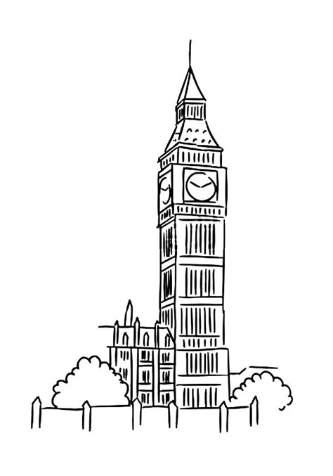 big ben coloring coloring pages