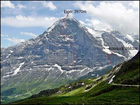 eiger rotstock photos diagrams topos summitpost