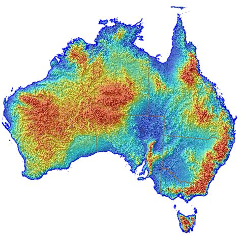 topographic maps australia australian elevation map