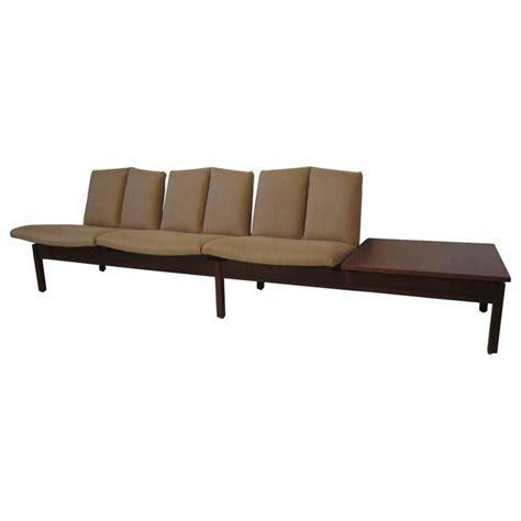 modular bench seating danish tandem modular bench seating set for sale at 1stdibs