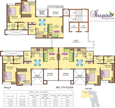 the inspira floor plan 808 sq ft 2 bhk 2t apartment for sale in anand realties