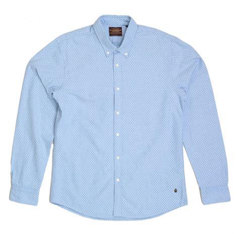 Buttondown Shirt Blue Polka Ls sky blue polka dot sleeve shirt by scotch and soda