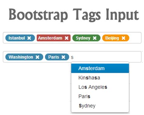 tutorial bootstrap tags input tag jquery plugins