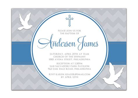 baptism invitation boy baptism invitations baptism