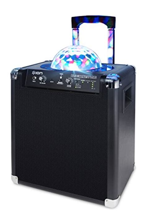 ion portable speaker system with lights ion audio block live 50 watt portable bluetooth