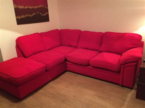 red sofa uk beautiful corner sofa bright red very good condition for