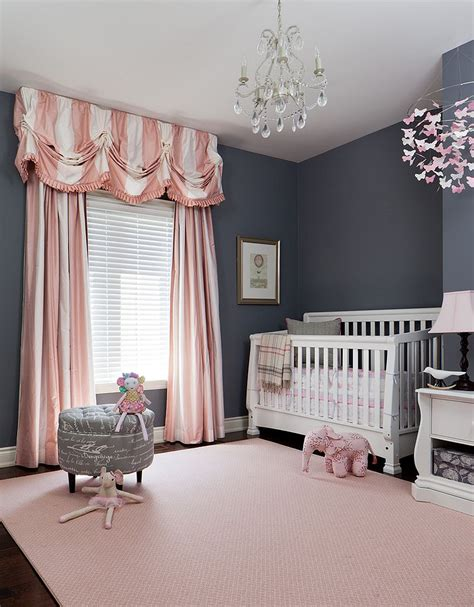 Pink And Grey Nursery Curtains Trendy And Chic Gray And Pink Nurseries That Delight
