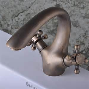 antique brass finish single single handle bathroom