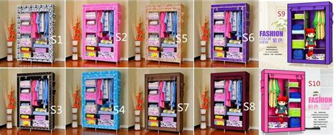 08 Travel Multifunction Wardrobe With Cover Lemari Pakaian 5 jual multifunction wardrobe cloth rack with cover lemari
