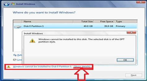 format gpt disk windows xp sửa lỗi windows cannot be installed to this disk the