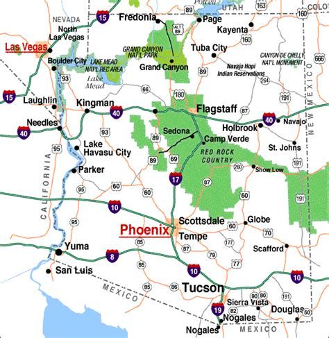 maps of arizona az map highways