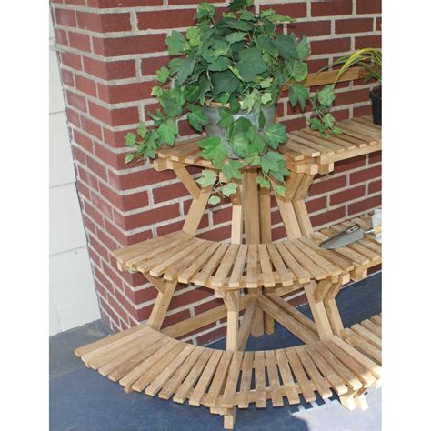 Corner Planter Stand by Jewels Of Java Teak Plant Stand Corner Unit Outdoor
