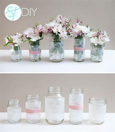 floreros baby shower ideas con flores y puntillas baby shower pinterest