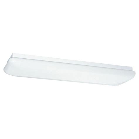 2 Light Fluorescent Fixture Sea Gull Lighting 2 Light White Fluorescent Ceiling Fixture 59270le 15 The Home Depot