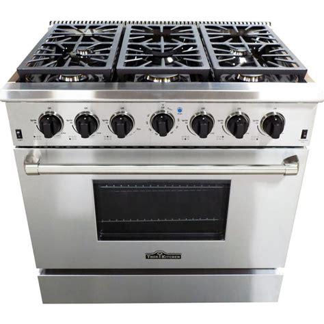 kitchen stove thor kitchen 36 in 5 2 cu ft 6 burner gas range in